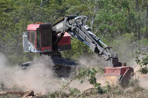 Timber Pro in Action Clearing Land